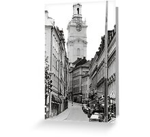 Streets of Sweden Greeting Card