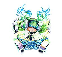 Chibi Kinetic DJ Sona Photographic Print