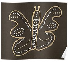 Gold & Silver Flutterfly Poster