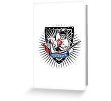 Slovakia ice hockey player shield Greeting Card