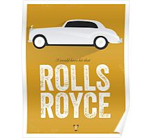 Cinema Obscura Series - Back to the future - Rolls Royce Poster