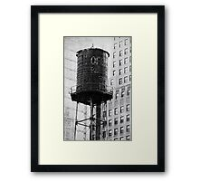 The water tower Framed Print