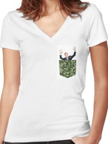 Benedict Cumberbomb Camo Tee Women's Fitted V-Neck T-Shirt