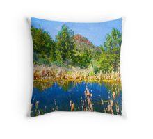 Eastern Oregon Mountains and Pond Throw Pillow