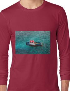 Red White and Blue Pilot Boat Long Sleeve T-Shirt