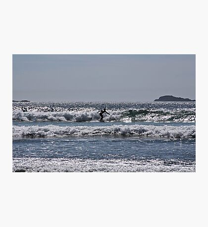 Lone surfer in the blue Photographic Print