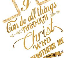 Philippians 4:13 Typography by kyuzki