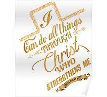 Philippians 4:13 Typography Poster