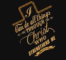 Philippians 4:13 Typography Unisex T-Shirt