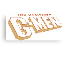 The Uncanny G-MEN Canvas Print