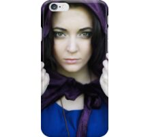 The Lady with the velvet cloak iPhone Case/Skin
