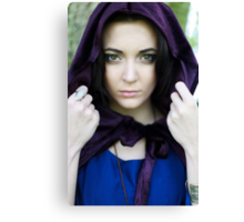 The Lady with the velvet cloak Canvas Print