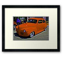 Competition Orange Framed Print