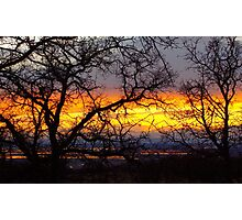 Chico Sunset Photographic Print