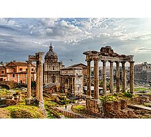 Ancient Roman Forum Ruins - Impressions Of Rome Photographic Print