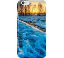 Snowy sunset iPhone Case/Skin