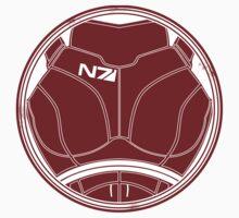 N7 Chestplate - Femshep Unweathered by Asarimaniac