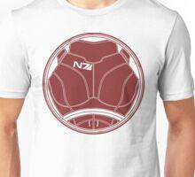 N7 Chestplate - Femshep Unweathered Unisex T-Shirt
