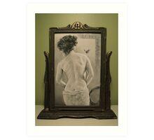 Summer's Muse in Vintage Frame Art Print