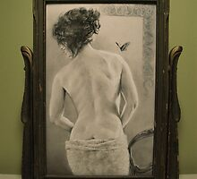 Summer's Muse in Vintage Frame by Alice McMahon