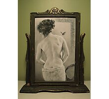 Summer's Muse in Vintage Frame Photographic Print