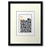 Tetris Damn Moment Framed Print