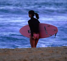 Pink Surfer by John Brumfield