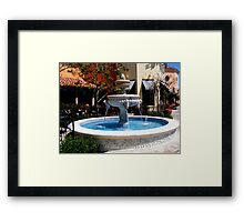 The Fountain ~ San Diego, California ~ USA (read poem) Framed Print