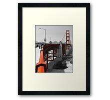 Not so Golden Gate Bridge Framed Print