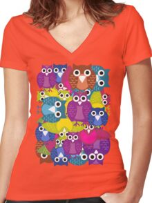 owlish T-shirt  Women's Fitted V-Neck T-Shirt