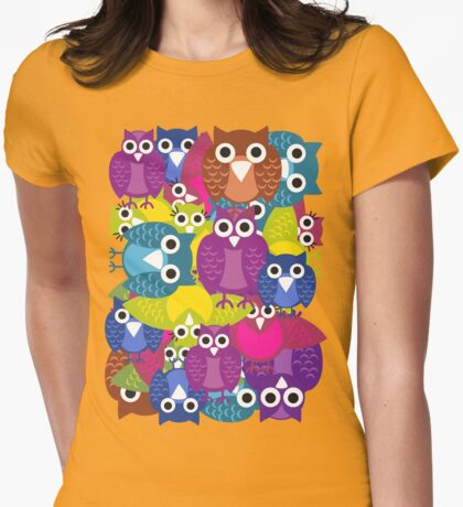 owlish T-shirt  Womens Fitted T-Shirt