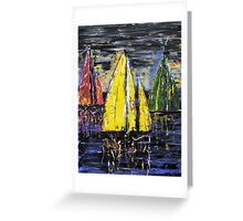 Sailing on the Derwent Greeting Card