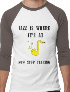 Jazz is where it's at Men's Baseball ¾ T-Shirt