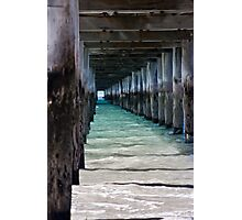 Under the boardwalk again... Photographic Print