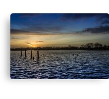 Welcoming the end of the day Canvas Print