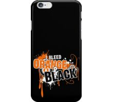 I Bleed Orange and Black iPhone Case/Skin