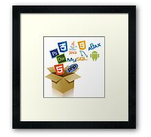 new features Framed Print