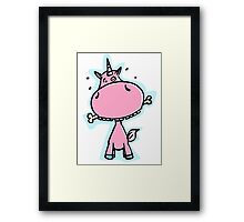 The Unicorn fetches the bone Framed Print