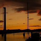 On The Clyde at Sunset by ElsT