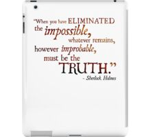 Sherlock Holmes - Eliminate the Impossible iPad Case/Skin