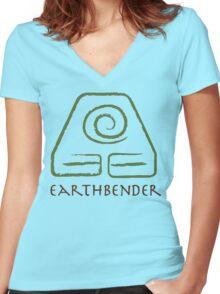 Earthbender Women's Fitted V-Neck T-Shirt