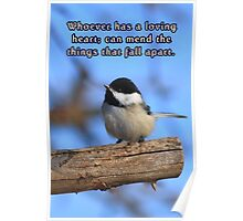 Black-Capped Chickedee Inspirational Poster