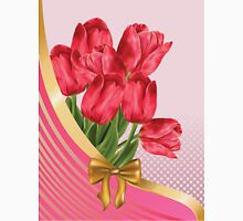 Greeting card with tulips Unisex T-Shirt