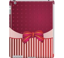 Striped background with bow iPad Case/Skin
