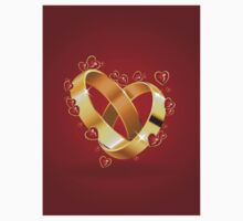 Wedding rings and hearts Kids Clothes