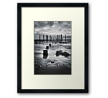 Port Willunga (Black and White) Framed Print