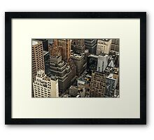 New York Tetris Framed Print