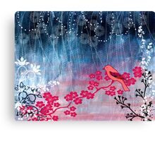 Pink Bird Canvas Print