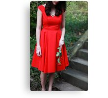 Red Dress II Canvas Print