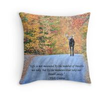 Moments That Take Our Breath Away - Quote Throw Pillow